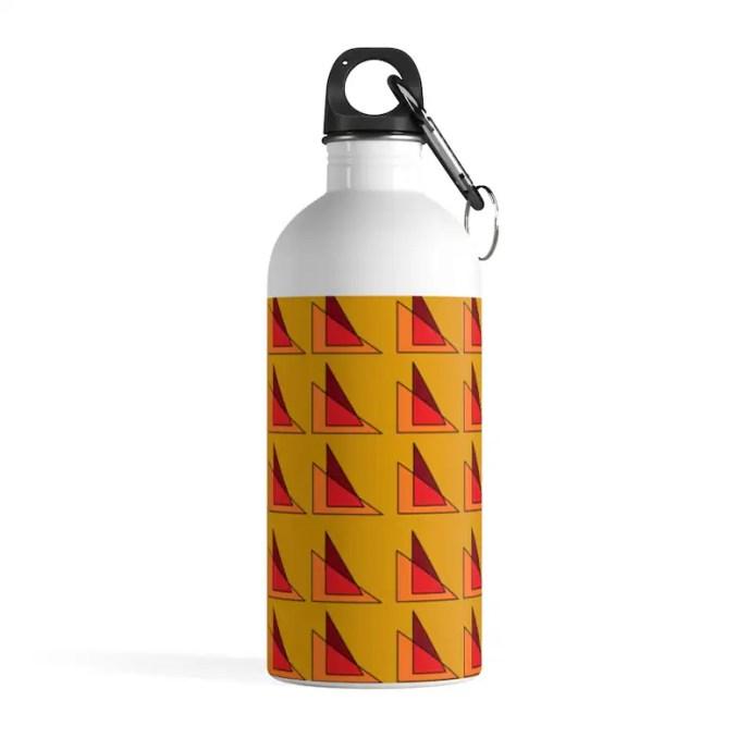Cool Art Water Bottle 32  Retro custom gift pop art line image 0