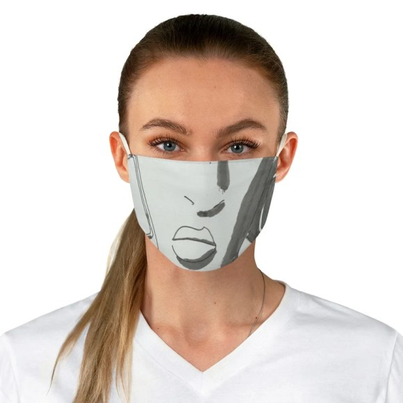 Urban Art Fabric Face Mask 28  Retro custom gift reusable image 0