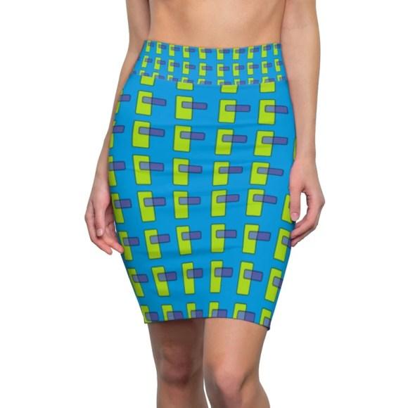 Cool Art Pencil Skirt 14  Retro custom gift  skirts dresses image 0