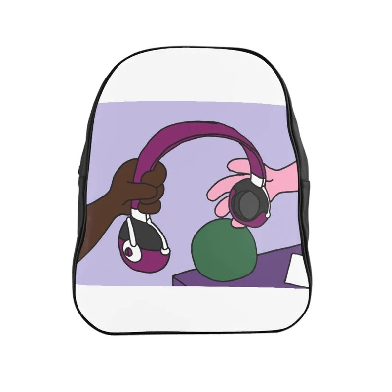 Urban Art PU Leather Backpack 3 sizes 1   Retro custom gift image 0