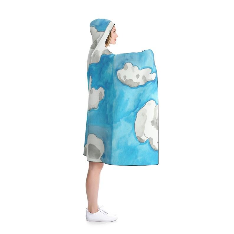 Urban Art Hooded Blanket 4  Retro custom gift pop art line image 0