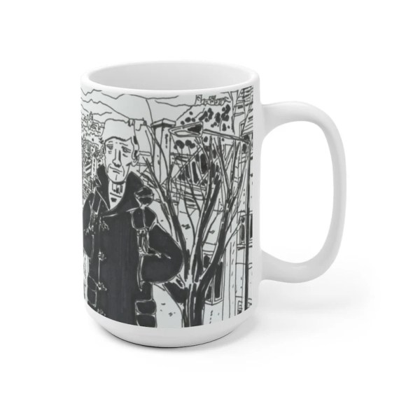 Cool Art Mug 2 sizes USA12  Retro custom gift unique mugs image 0