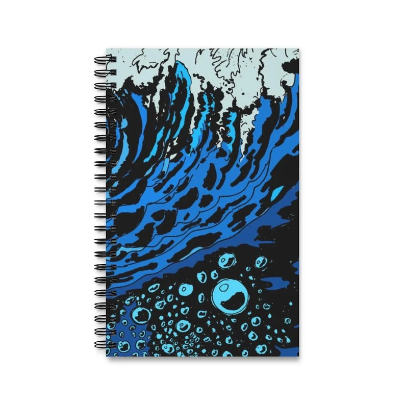 Spiral Journal With Cool Art Cover 4  Retro custom gift task image 0