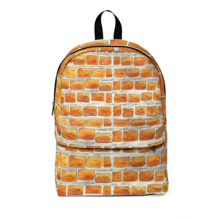 Urban Art Large Backpack 4  Retro custom gift  backpacks image 0