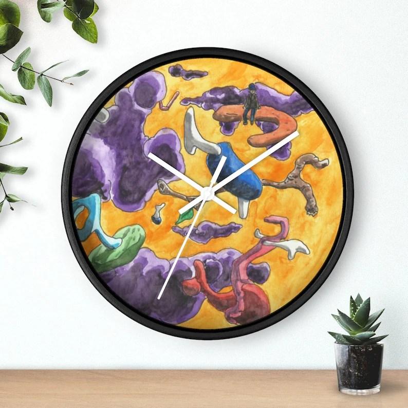 Cool Art Wall Clock 14  Retro custom gift designer image 0