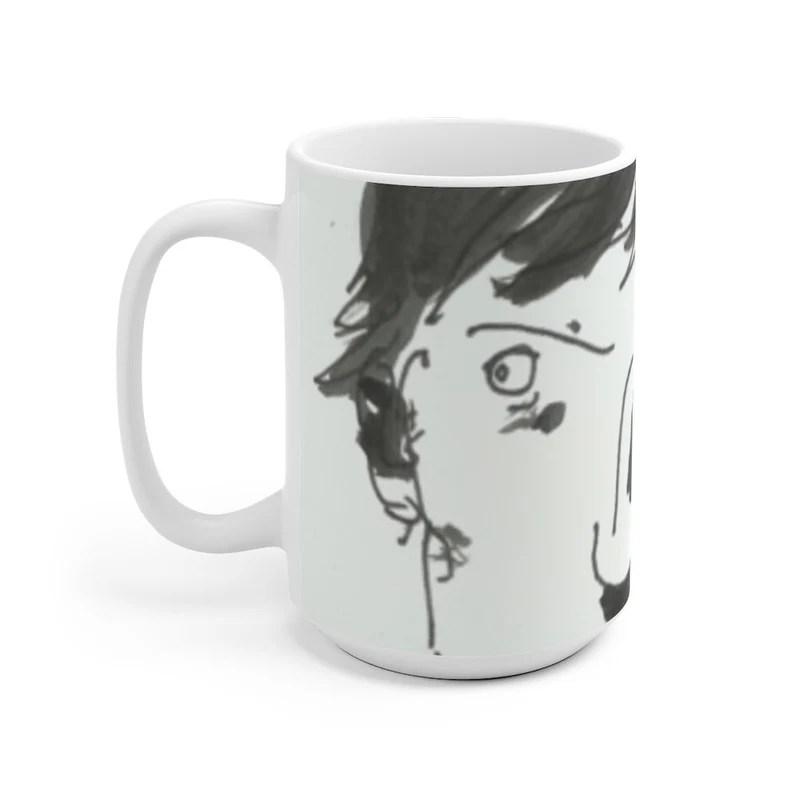 Urban Art Mug 2 sizes 79  Retro custom gift unique mugs image 0