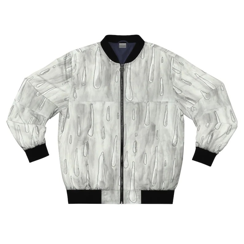 Urban Art Bomber Jacket 2  Retro custom gift aesthetic line image 0