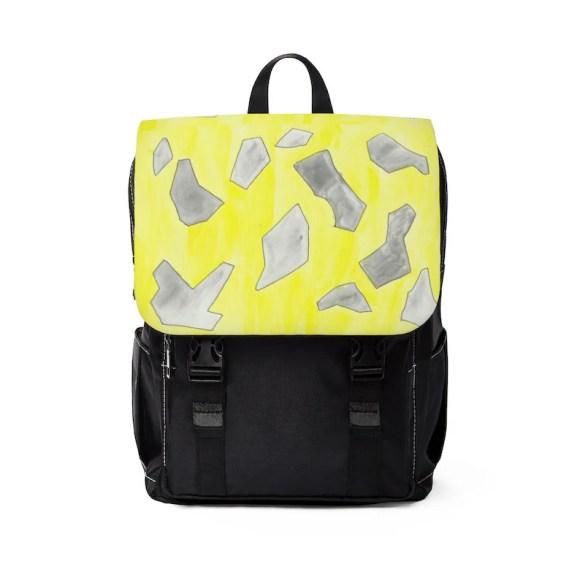 Urban Art Canvas Mini Backpack 15  Retro custom gift image 0