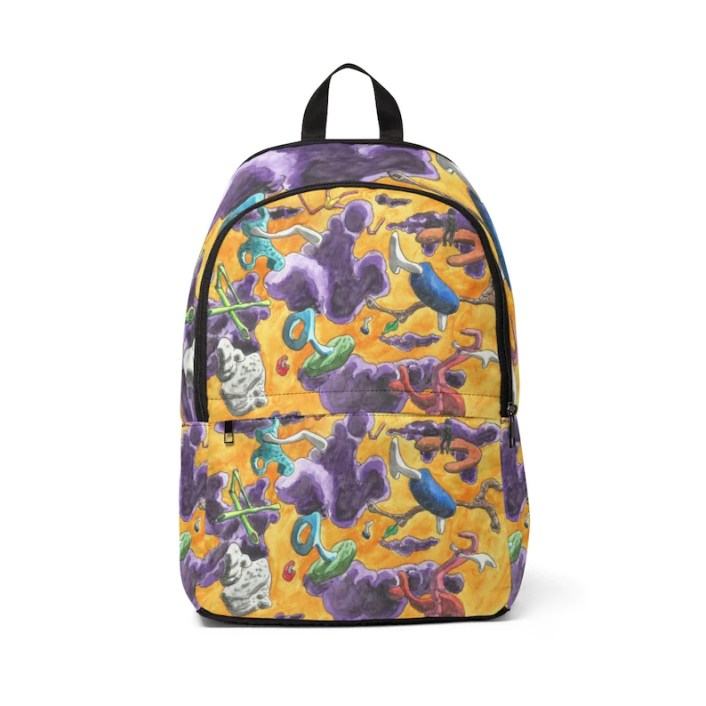 Urban Art Mid-sized Backpack 4  Retro custom gift  backpacks image 0