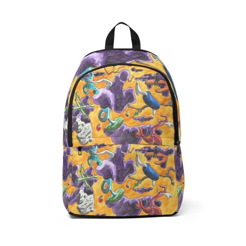 Cool Art Mid-sized Backpack 4  Retro custom gift  backpacks image 0
