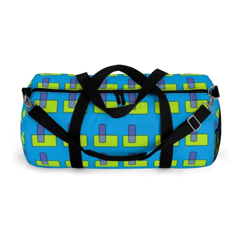Cool Art Duffel Bag 2 sizes 5  Retro custom gift backpacks image 0