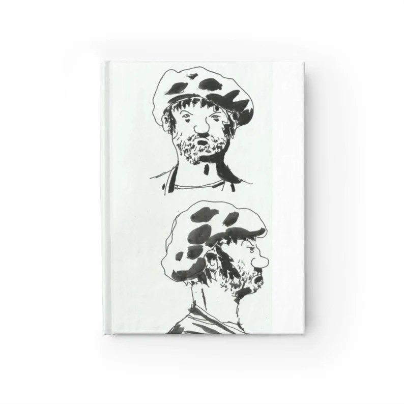 Blank Journal With Urban Art Cover 43  Retro custom gift image 0
