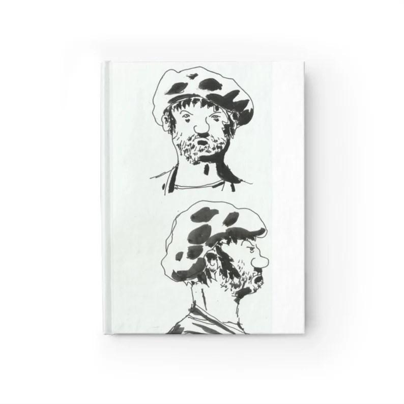 Blank Journal With Urban Art Cover 43  Retro custom gift image 0