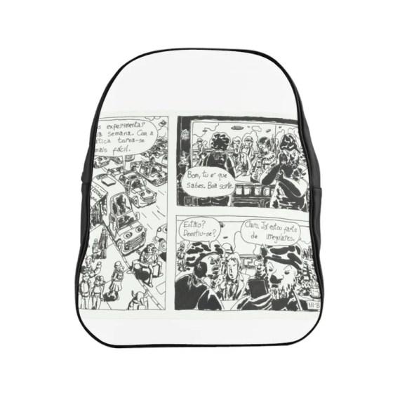 Urban Art PU Leather Backpack 3 sizes 16  Retro custom gift image 0