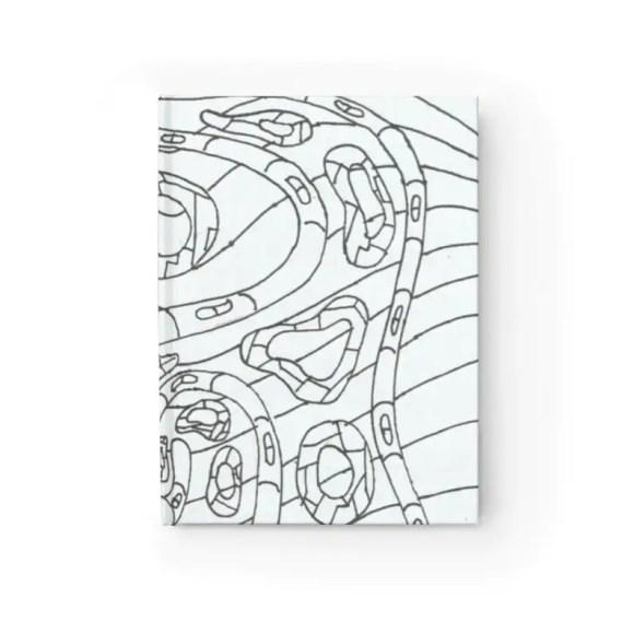 Blank Journal With Urban Art Cover 34  Retro custom gift image 0