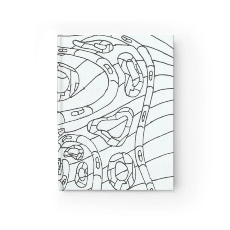 Blank Journal With Cool Art Cover 34  Retro custom gift image 0