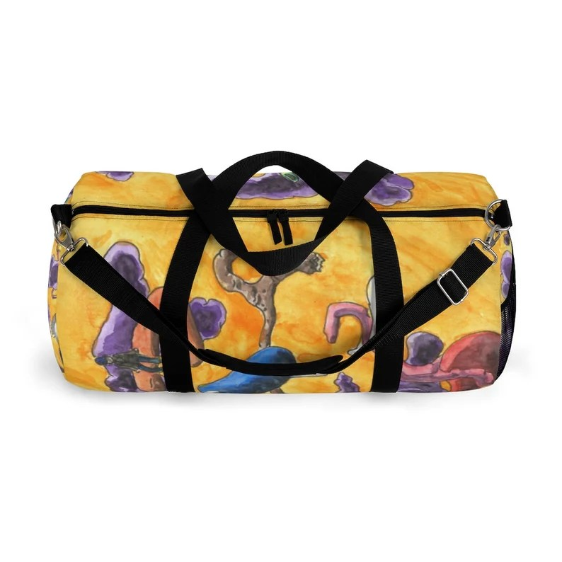 Urban Art Duffel Bag 2 sizes 1  Surrealist. Retro custom image 0
