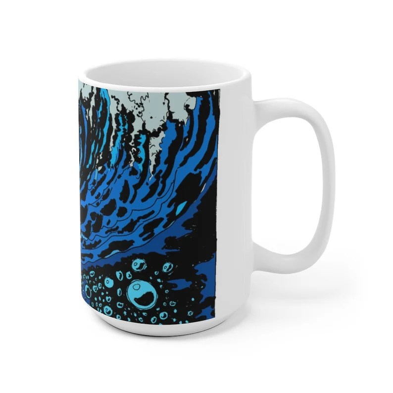Urban Art Mug 2 sizes 31  Retro custom gift unique mugs image 0