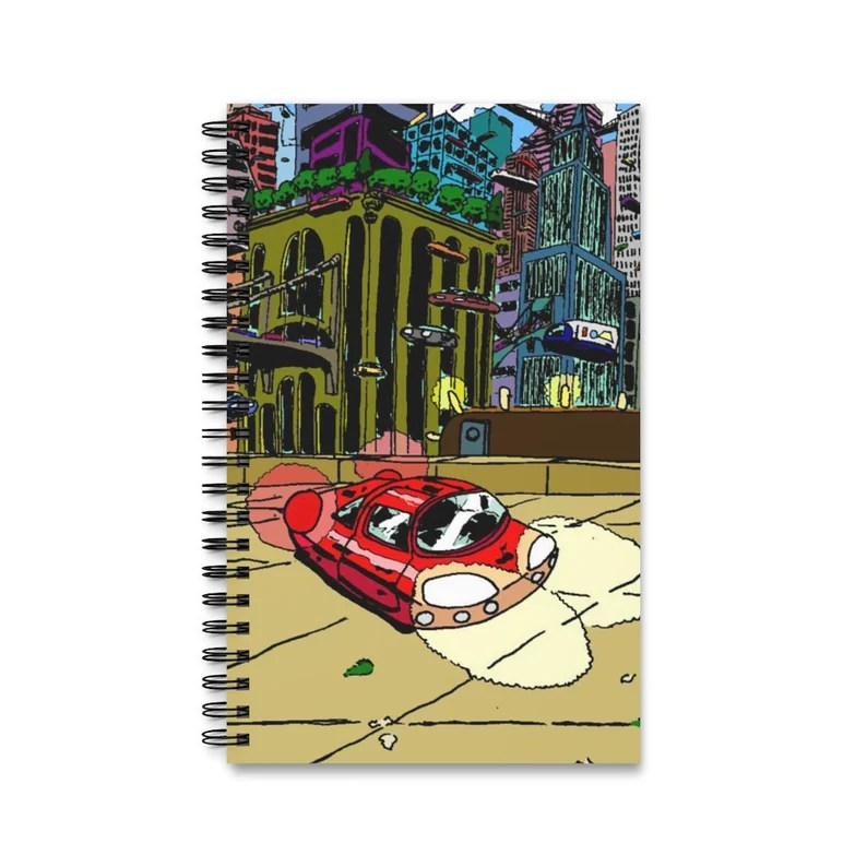 Spiral Journal With Cool Art Cover 22  Retro custom gift image 0