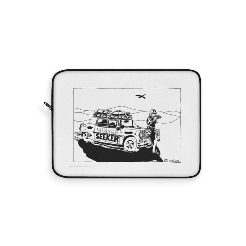 Urban Art Laptop Sleeve 15  Retro custom gift line art pop image 0