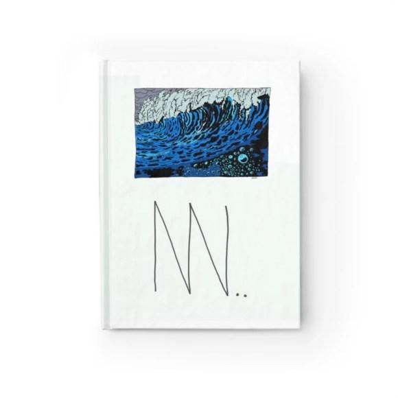 Blank Journal With Urban Art Cover 9  Retro custom gift image 0