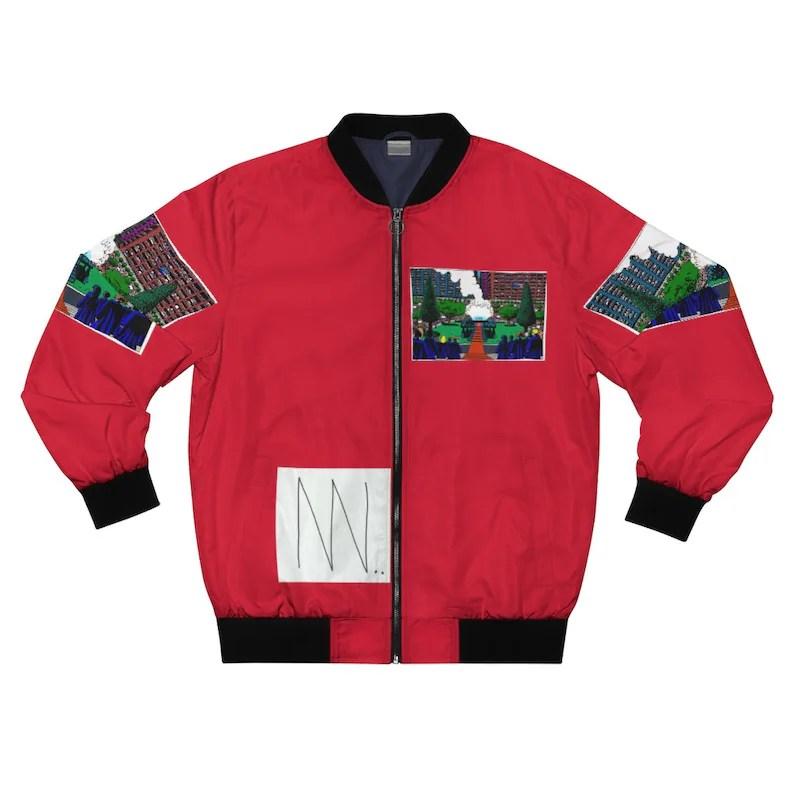 Urban Art Bomber Jacket 16  Retro custom gift aesthetic line image 0