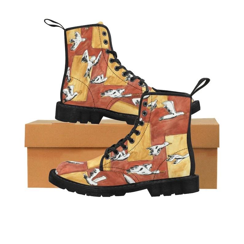 Urban Art Boots 2  Retro custom gift handmade pop art line image 0