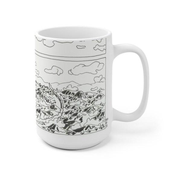 Cool Art Mug 2 sizes 71  Retro custom gift unique mugs with image 0