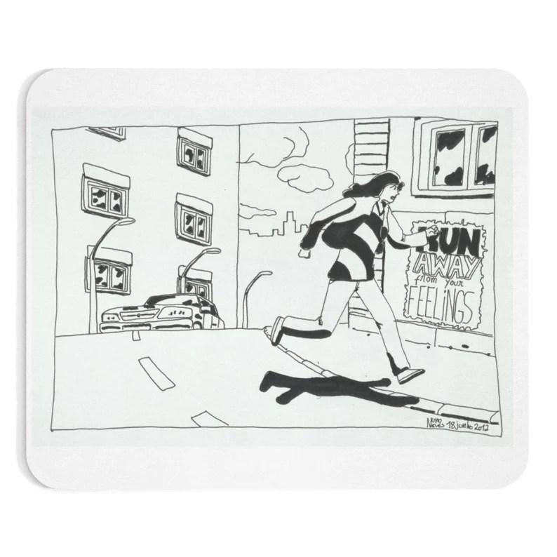 Cool Art Mousepad 2  Retro custom gift line art pop art image 0