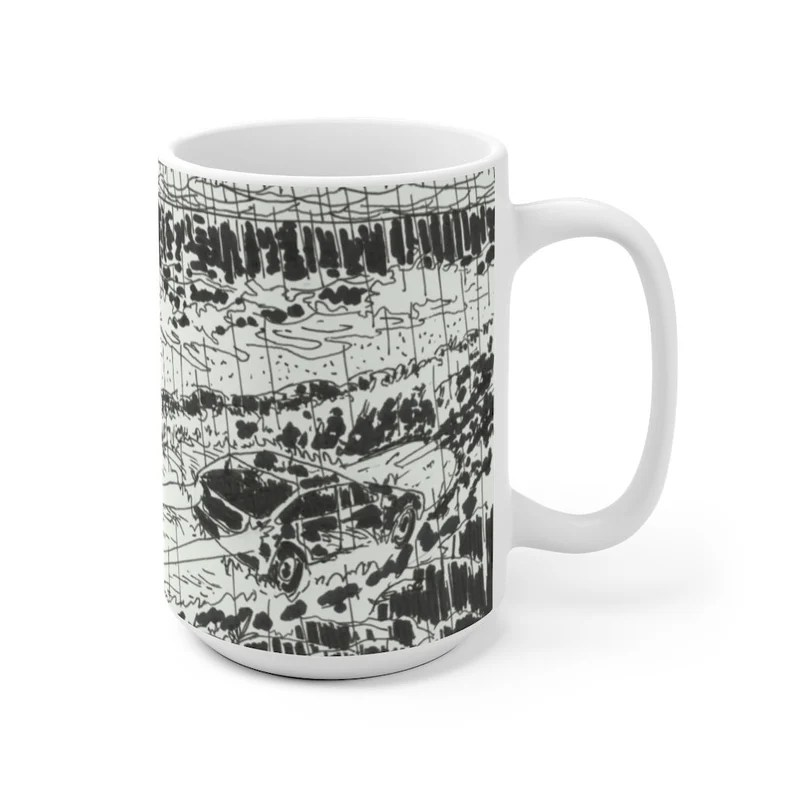 Urban Art Mug 2 sizes 59  Retro custom gift unique mugs image 0