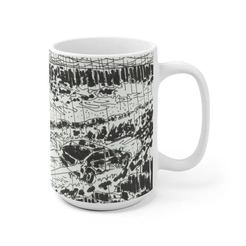 Urban Art Mug 2 sizes 59  Retro custom gift unique mugs image 0