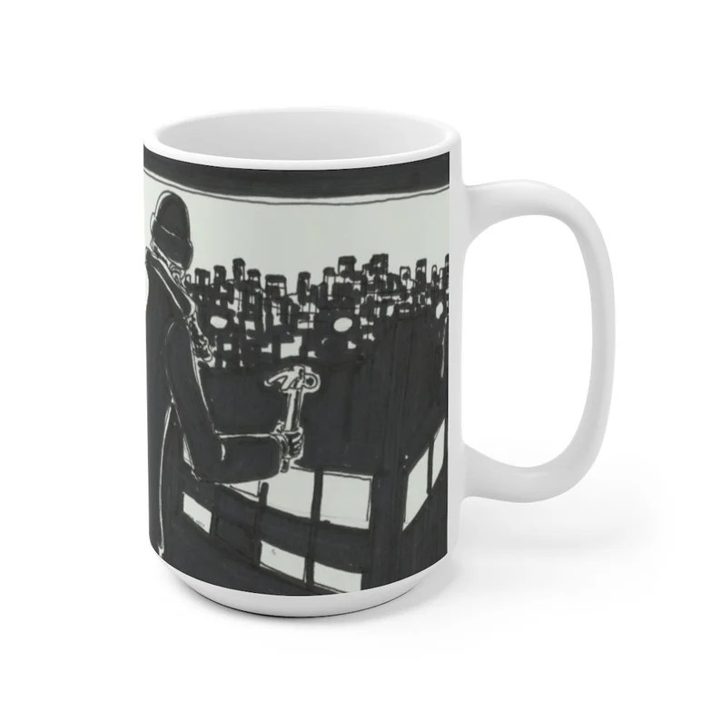 Cool Art Mug 2 sizes 1  Retro custom gift unique mugs with image 0