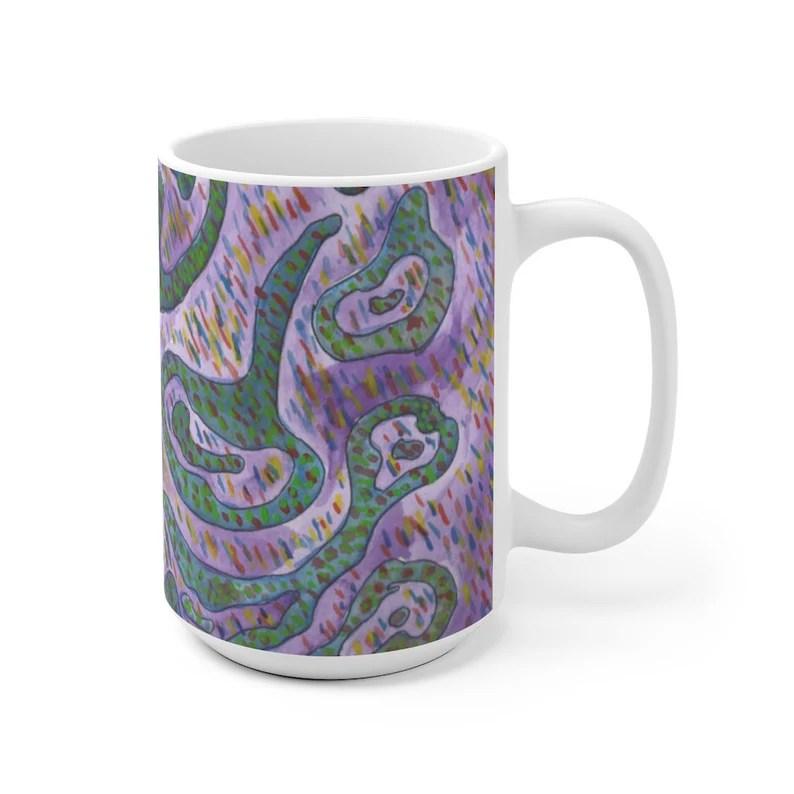 Urban Art Mug 2 sizes 25  Retro custom gift unique mugs image 0