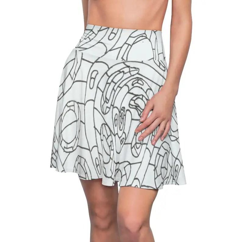Cool Art Skater Skirt 7  Retro custom gift  skirts dresses image 0