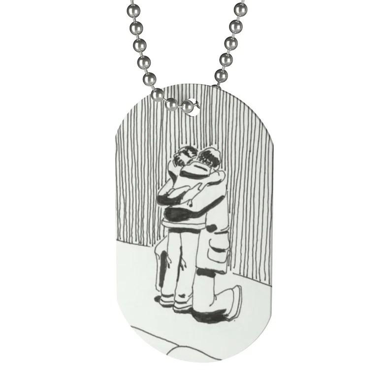 Cool Art Dog Tag 11  Retro custom gift pop art line art image 0