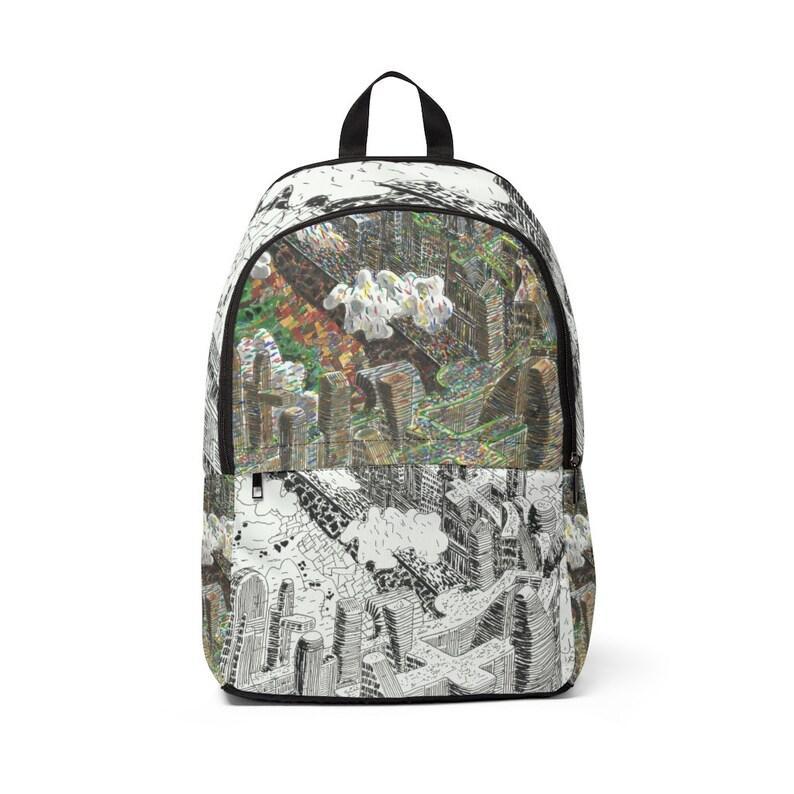 Urban Art Mid-sized Backpack 14  Retro custom gift image 0