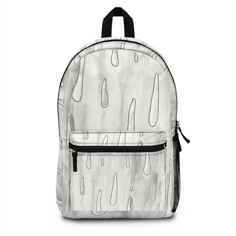 Urban Art Spun Polyester Backpack 1  Retro custom gift image 0