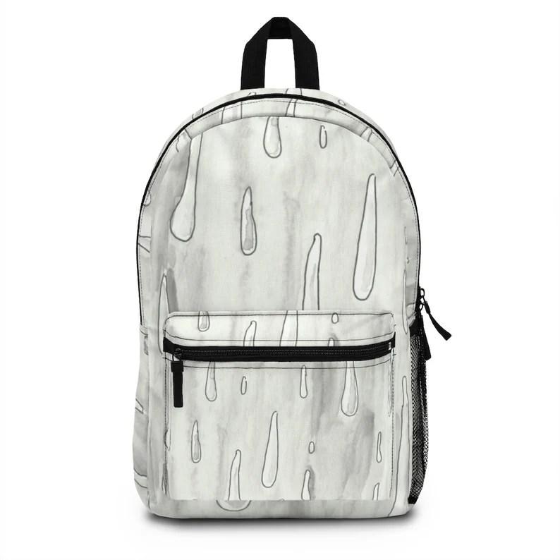 Urban Art Spun Polyester Backpack 1  Retro custom gift image 0