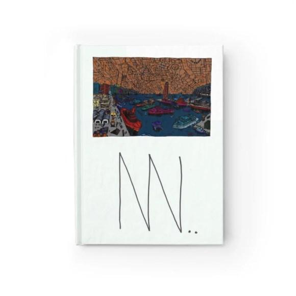 Blank Journal With Urban Art Cover 12  Retro custom gift image 0