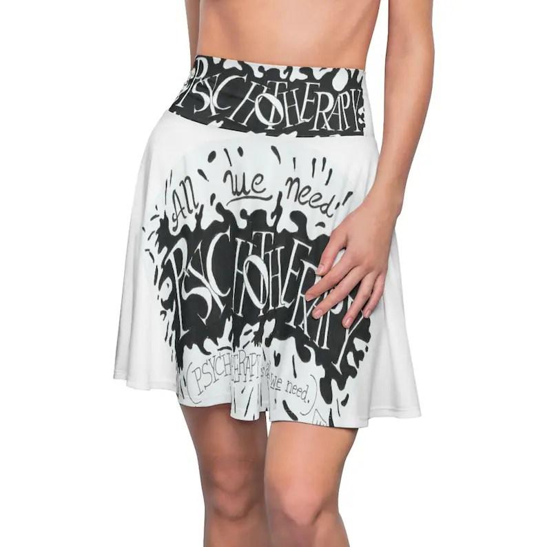 Cool Art Skater Skirt 8  Retro custom gift  skirts dresses image 0