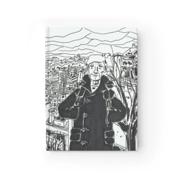 Blank Journal With Cool Art Cover 4  Retro custom gift imagem 0