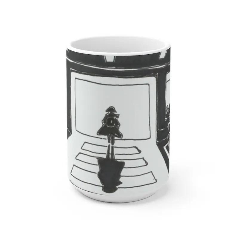 Urban Art Mug 2 sizes 53  Retro custom gift unique mugs image 0