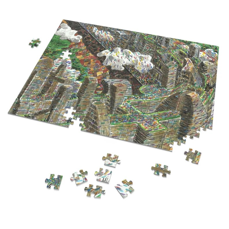 Urban Art 252 Piece Puzzle 1  Retro custom gift pop line image 0
