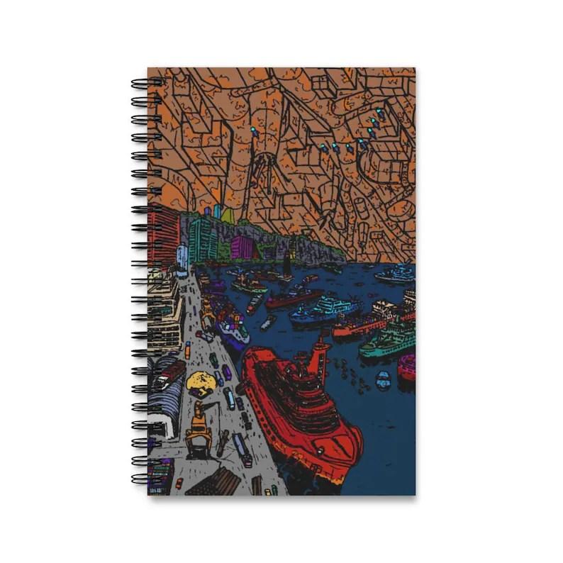 Spiral Journal With Cool Art Cover 16  Retro custom gift imagem 0