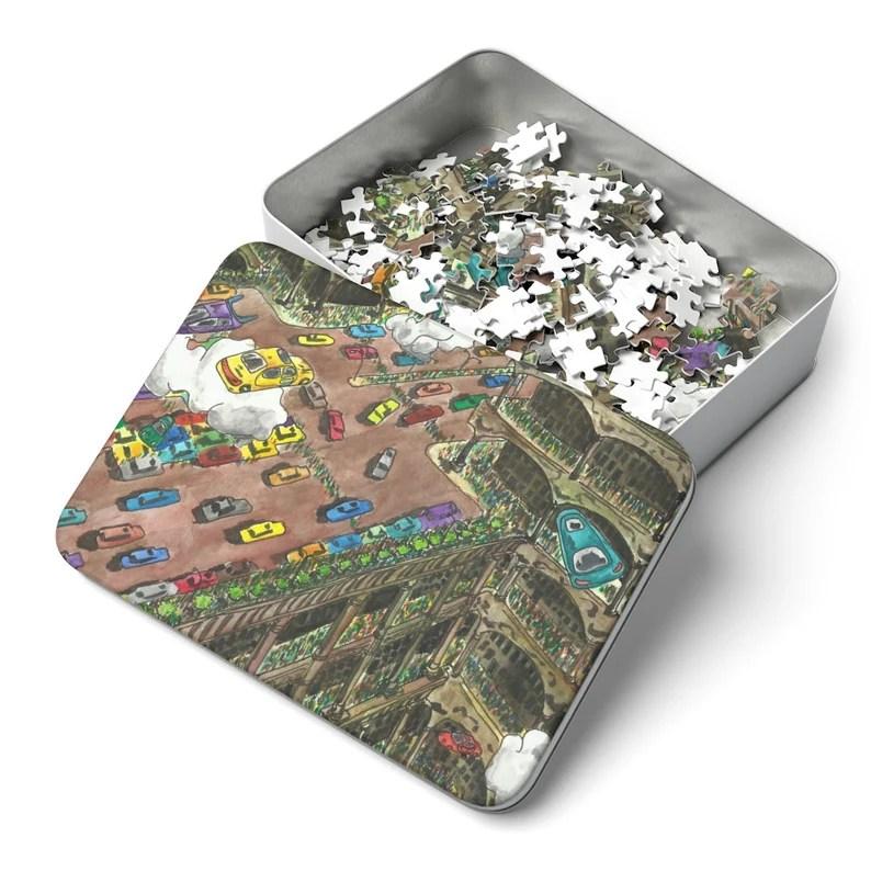 Urban Art 252 Piece Puzzle 2  Retro custom gift pop line image 3