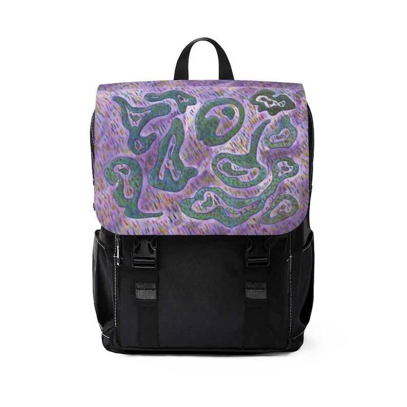 Urban Art Canvas Mini Backpack 17  Retro custom gift image 0