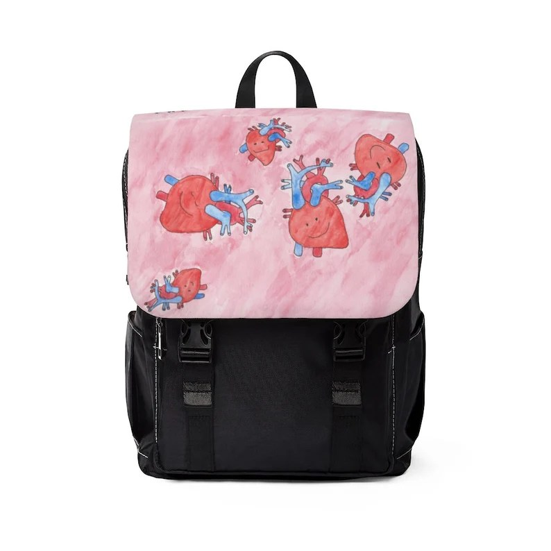 Urban Art Canvas Mini Backpack 11  Retro custom gift image 0