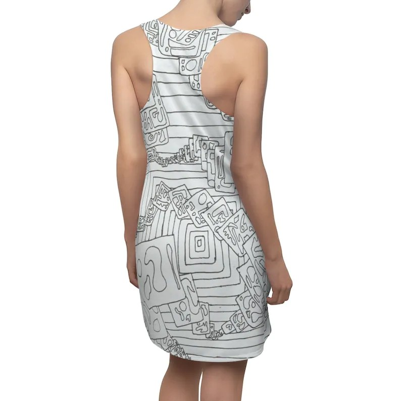 Urban Art Racerback Dress 10  Retro custom gift  dresses image 0