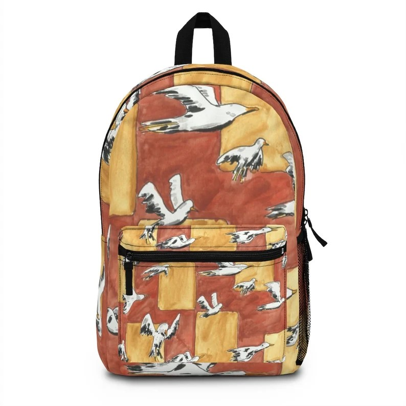 Cool Art Spun Polyester Backpack 2  Retro custom gift image 0