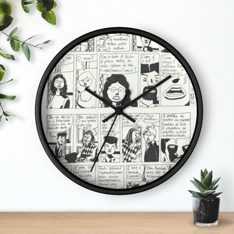 Cool Art Wall Clock 5  Retro custom gift designer aesthetic image 0
